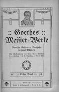 Innenansicht Goethes Werke
